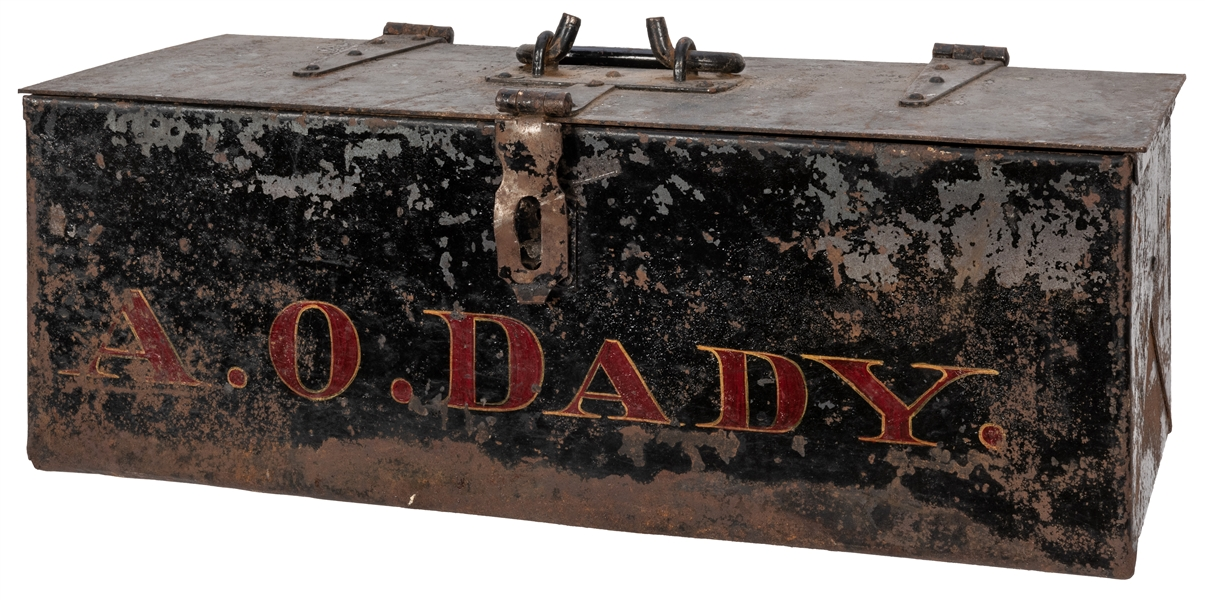 A.O. Dady Hinged Cast Iron Tool Box.