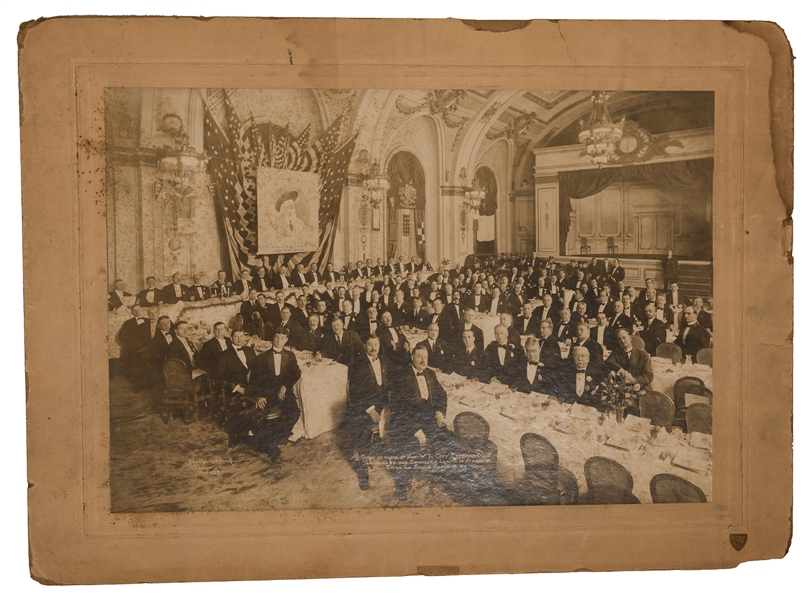 "A Dinner In Honor of Hon. W.F. Cody ""Buffalo Bill"" Tendered by the Showman's League of America. Hotel La Salle, March 15, 1913."