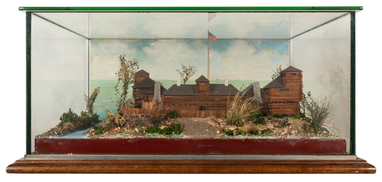 A Handmade Model of Fort Dearborn.