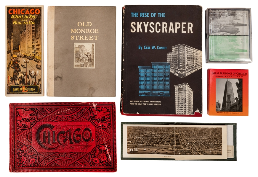 Two Nineteenth Century Chicago Souvenir Albums, and Other Ephemera.