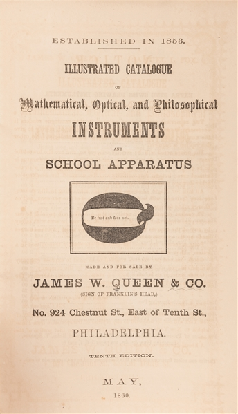 James W. Queen / Samuel L. Fox. Illustrated Catalogue of Mathematical, Optical, and Philosophical Instruments and School Apparatus.