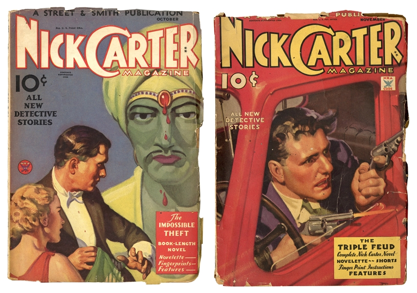 Nick Carter Magazine. Two Issues.