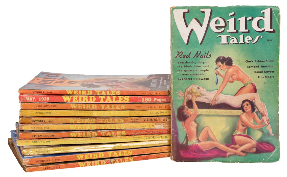 Weird Tales Magazine. 12 Issues.