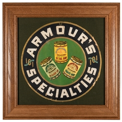 Armour Canning / Armour's Specialties Round Hanging Sign.