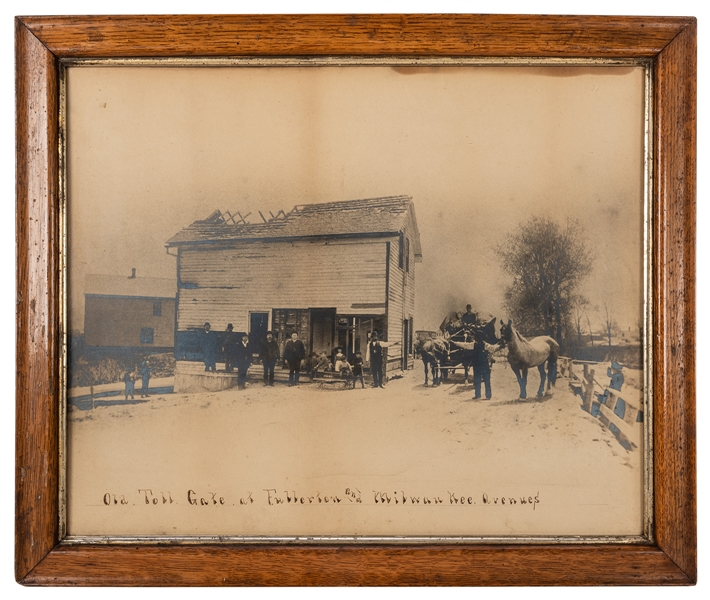 Large Photograph of The Old Toll Gate at Fullerton and Milwaukee Avenues, Chicago.