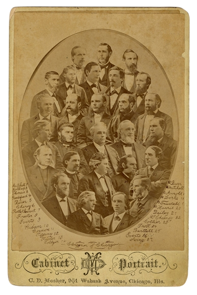 Clergymen of Chicago Cabinet Photo.
