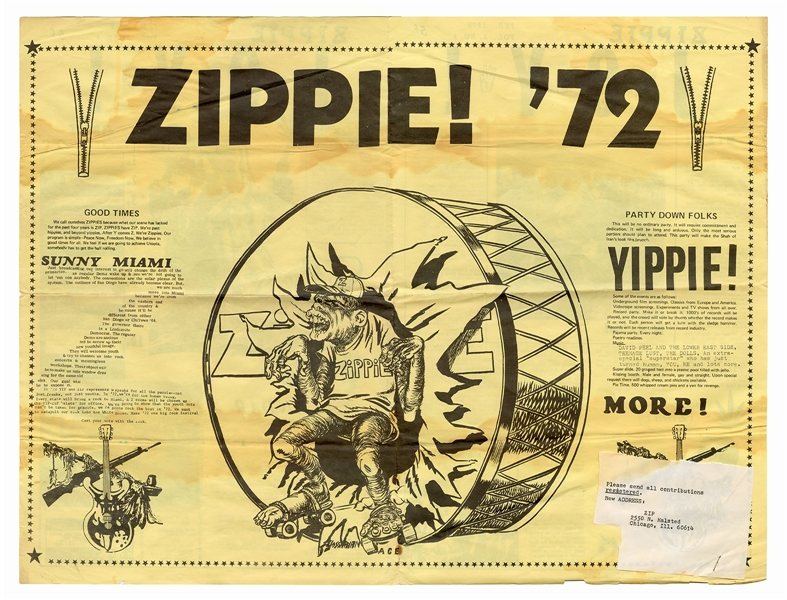 Original Chicago Zippie Joy! Newsletter / The Zippie Hymnal.