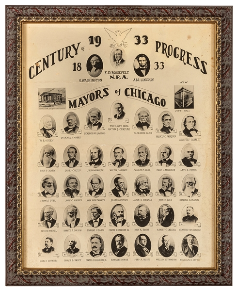Chicago 1933—34 Century of Progress Mayors of Chicago Composite Photographs.
