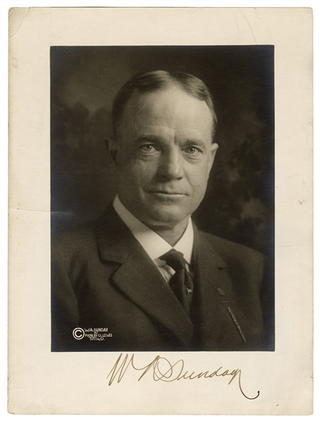 Signed Photograph of Billy Sunday.