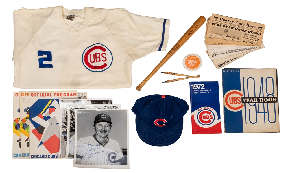 Chicago Cubs Vintage Sports Memorabilia Group.