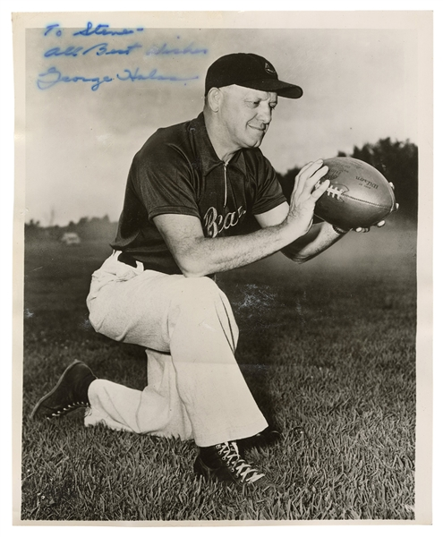 Chicago Bears. George Halas Signed Photo.