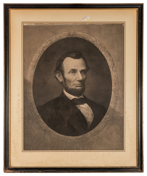 Gugler Portrait Engraving of Abraham Lincoln.