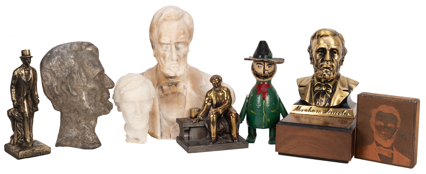 Group of Abraham Lincoln Desk Busts and Statuettes.