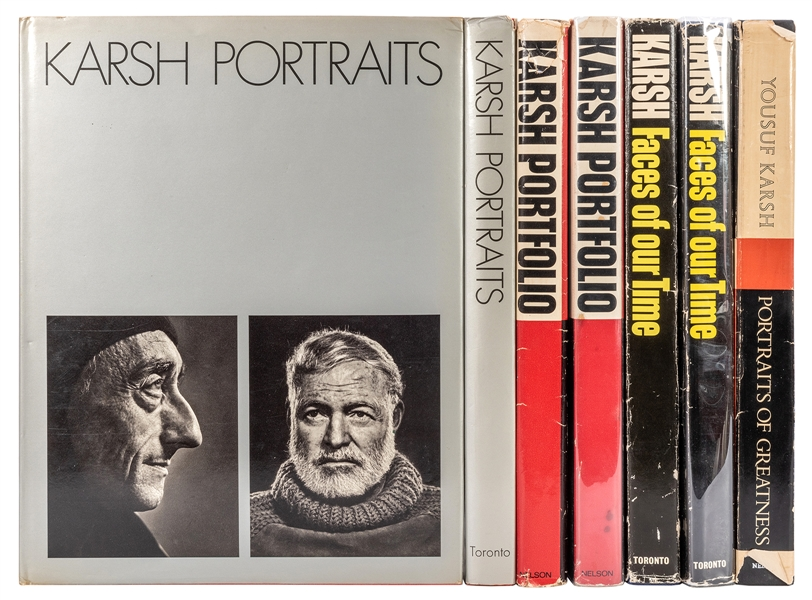 Seven Books of Karsh Photographs, three signed.