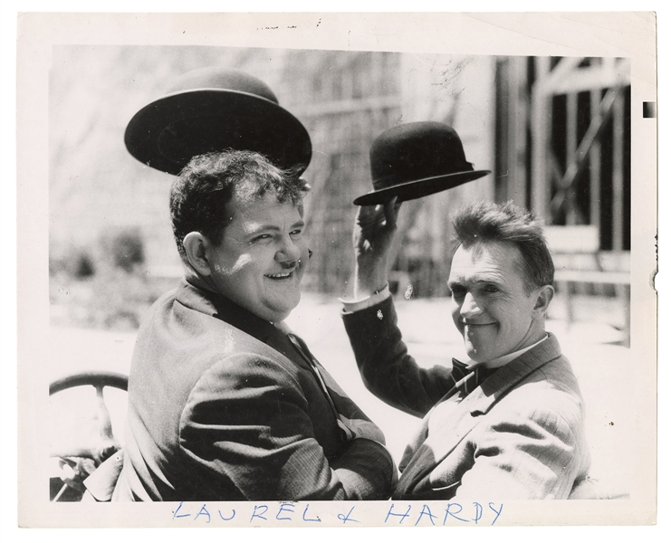 Laurel and Hardy by Weegee.