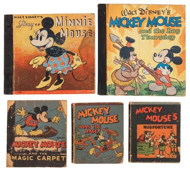 Mickey and Minnie Mouse. Five Big Little Books.