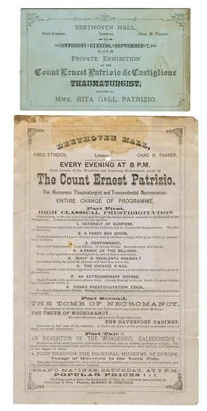 Two Count Ernest Patrizio Programs.