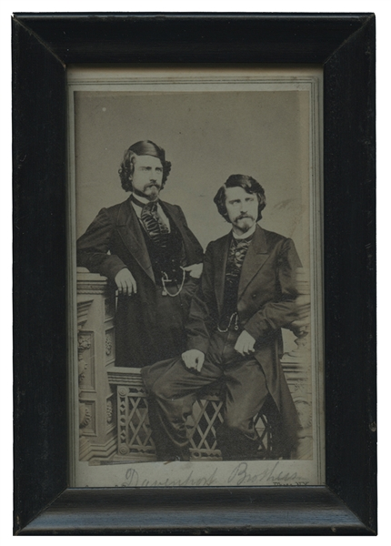 CDV Photograph of The Davenport Brothers.