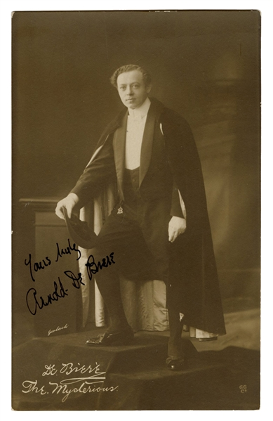 Signed Real Photo Postcard of Arnold De Biere.