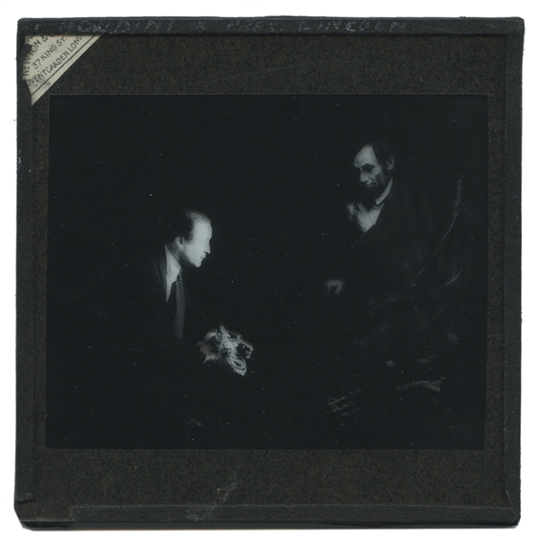 Harry Houdini/Abraham Lincoln Spirit Photo Glass Slide.