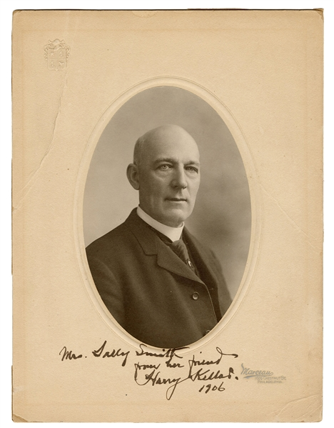Portrait of Harry Kellar, Inscribed and Signed.
