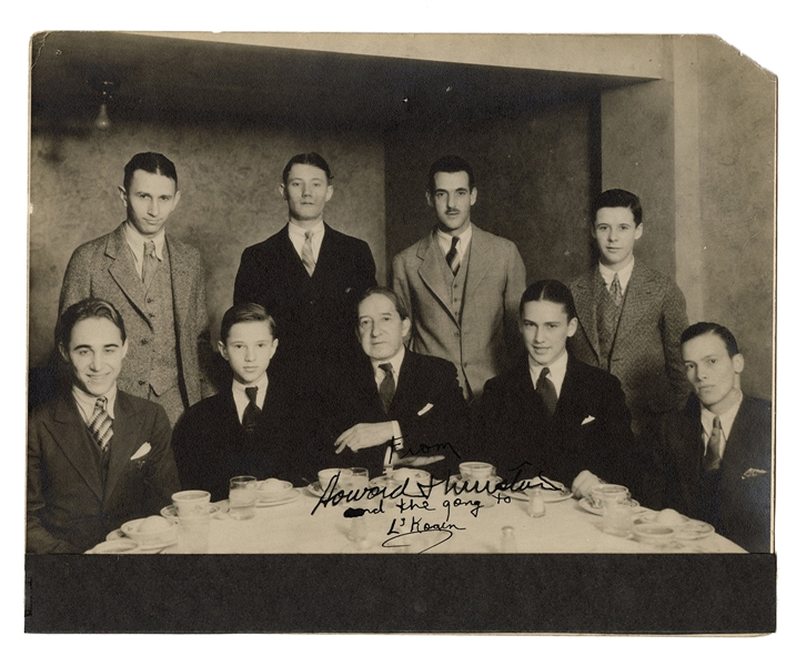 Signed Photograph of Howard Thurston and Friends.