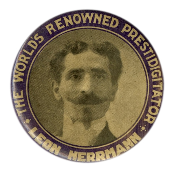 Leon Herrmann Pocket Mirror. The World's Renowned Prestidigitator.