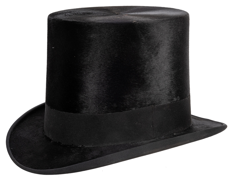 Robert Heller's Top Hat and Leather Carrying Case.