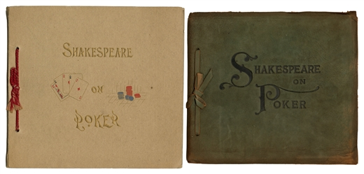 Shakespeare on Poker. Two Editions.