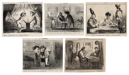 Eight Honore Daumier Lithographs.
