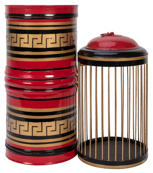 Roberta & Marion's Birdcage Canister.
