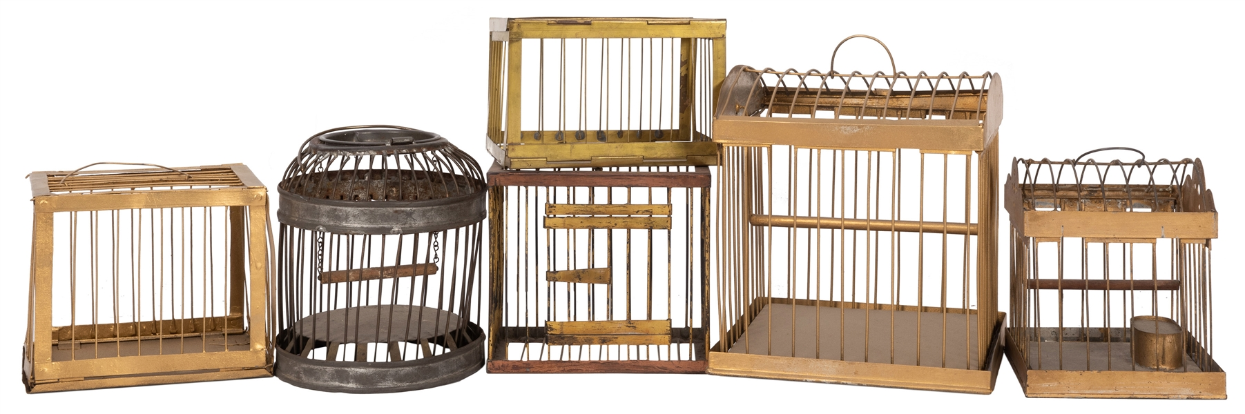 Production Birdcages. Lot of Six.