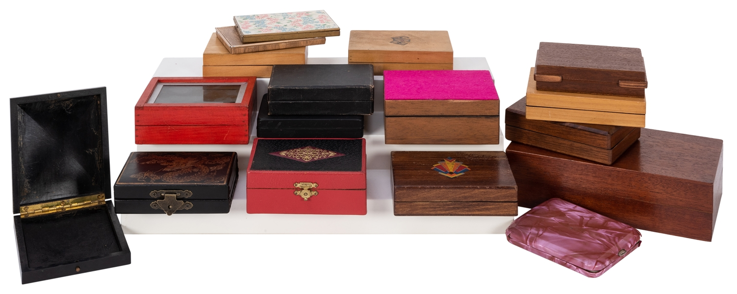 Collection of Over 20 Vintage Magicians' Card Boxes.