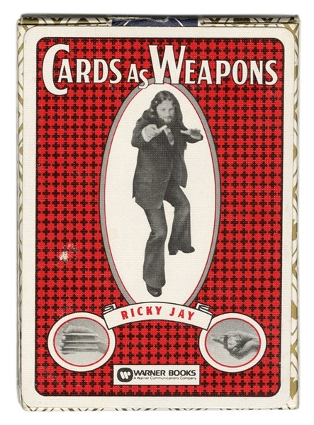 Ricky Jay Cards As Weapons Promotional Playing Cards.