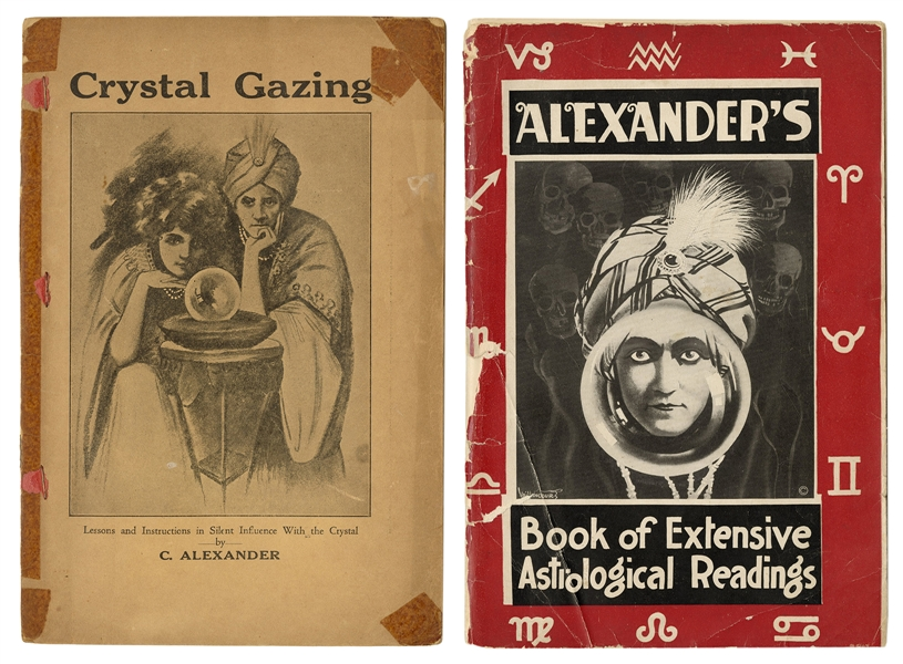 Pair of Crystal Gazing / Astrology Pitch Books.