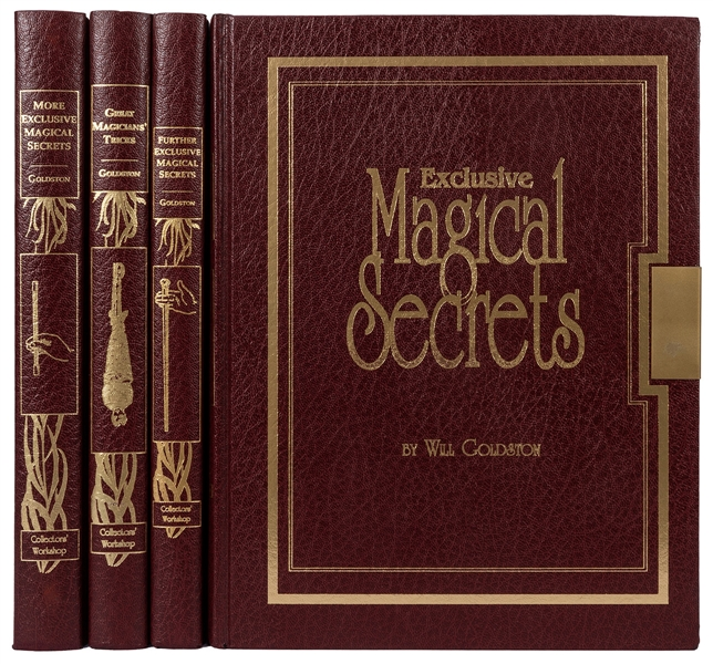 Four Goldston Deluxe Edition Magic Books.