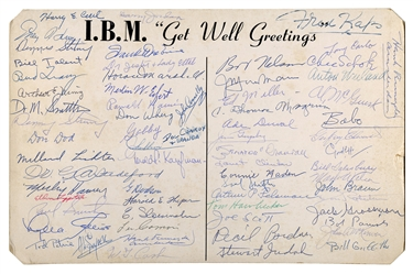 Jumbo I.B.M. Get Well Card Signed by Dozens of Magicians.