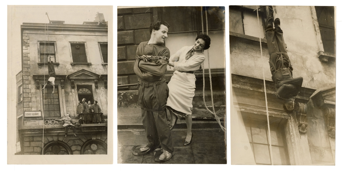 Three Photographs of Escape Artist James Crossini.