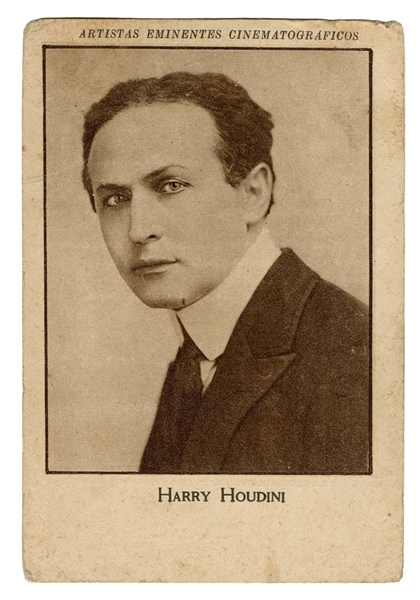 Houdini Spanish Cinema Trade Card.