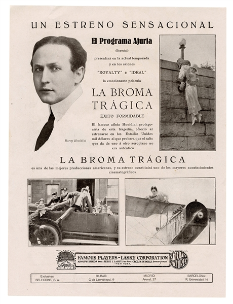 The Grim Game Spanish Advertising Clipping.