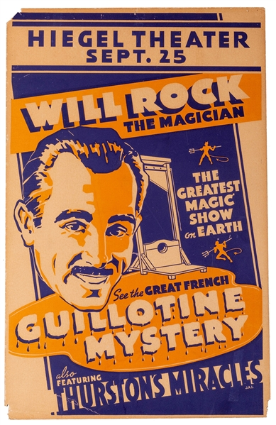 Will Rock the Magician / Great French Guillotine Mystery / Thurston's Mysteries.