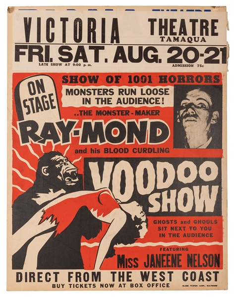 Ray-Mond and His Blood Curdling Voodoo Show.