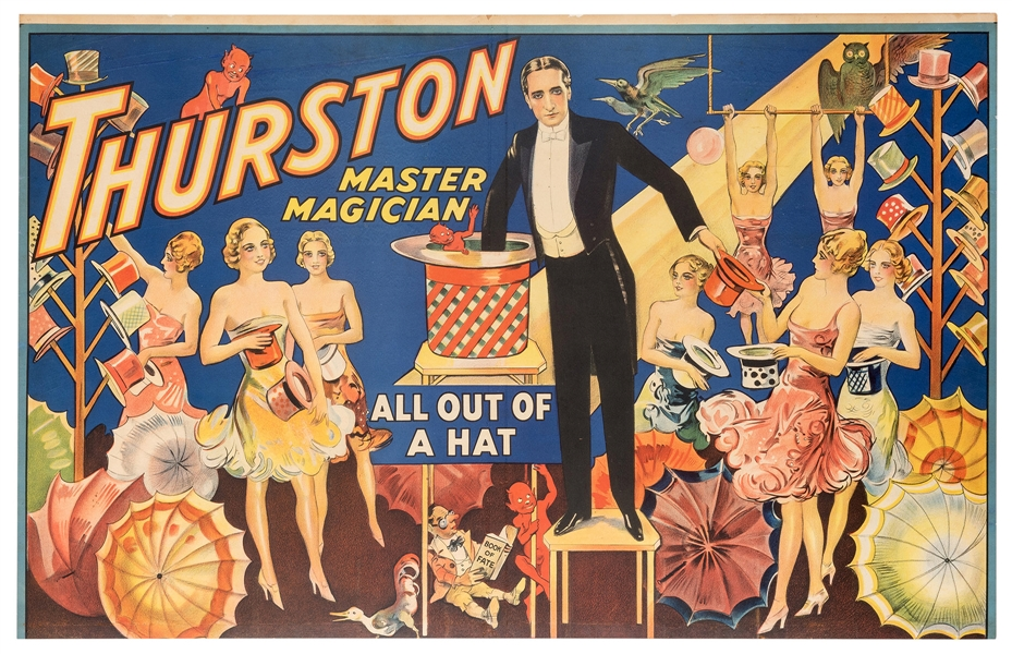 Thurston Master Magician. All Out of a Hat.