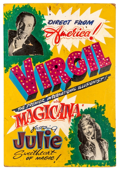 Direct from America! Virgil with Magicana featuring Julie.