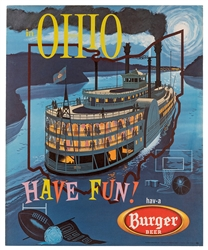 Burger Beer. Have Fun in Ohio. Cincinnati/Akron, ca. 1955.