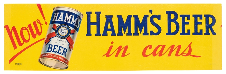 Hamm's Beer. Now In Cans!.