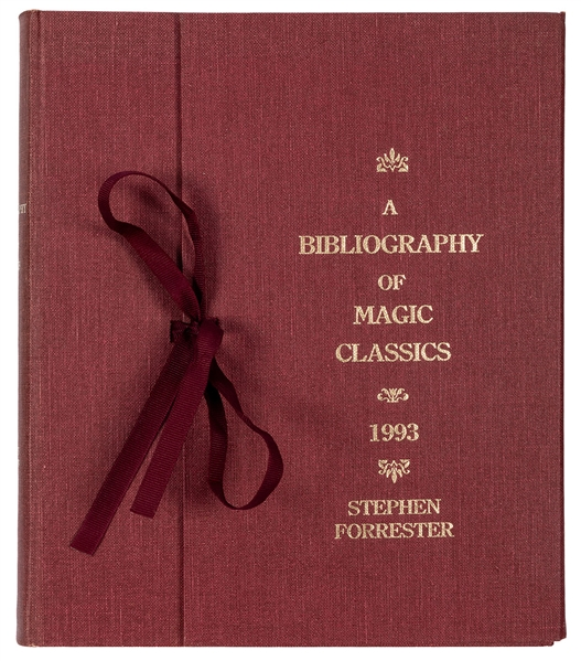 Forrester, Stephen. A Bibliography of Magic Classics.