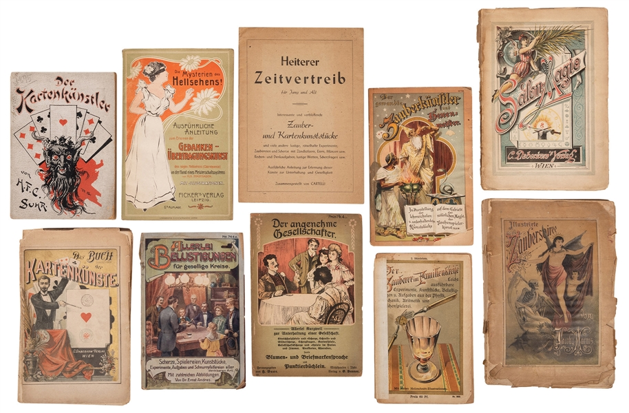 Group of 11 German Magic Books.