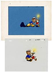 Porky Pig. Pair of Animation Cels.