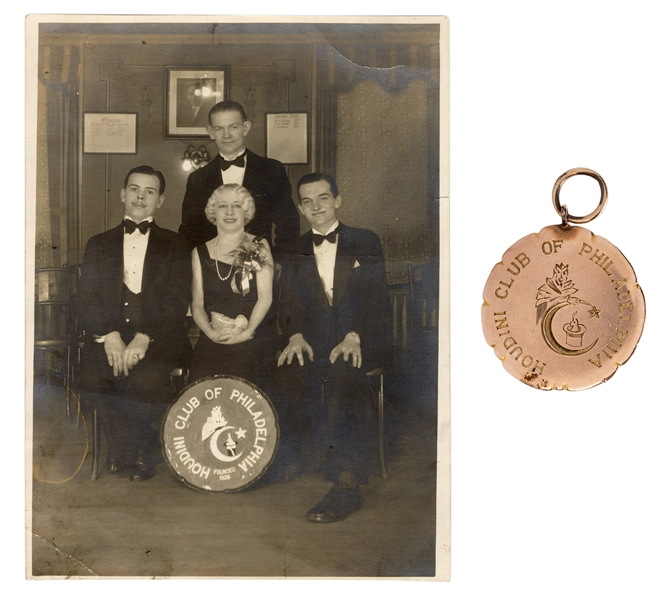 Houdini Club of Philadelphia Presentation Badge and Photos.